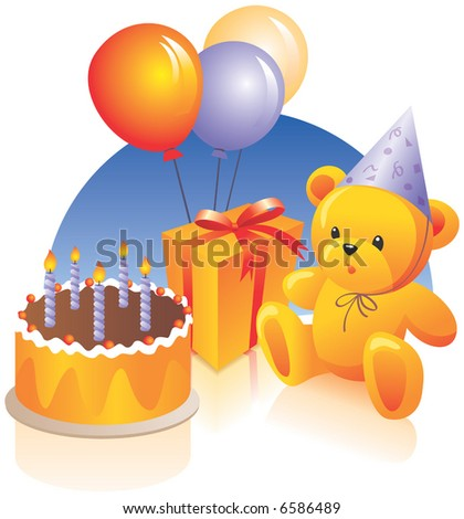 birthday cake photo. stock vector : Birthday cake,
