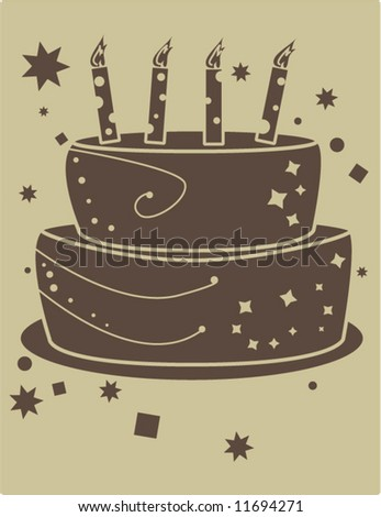 stock vector : birthday cake vector
