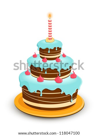 Birthday cake with candle
