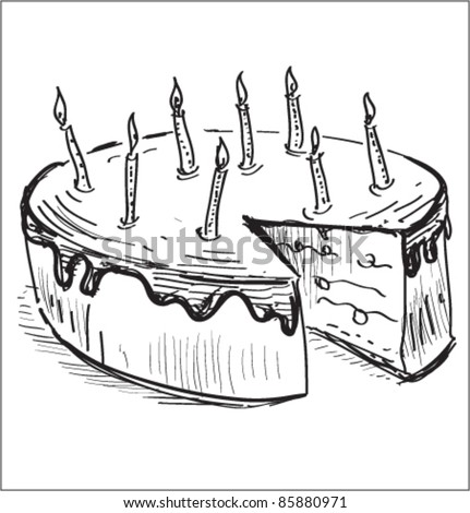 Royalty free birthday cake with candles hand 139306361 stock birthday cake with candles hand drawing cartoon sketch 85880971 sciox Image collections