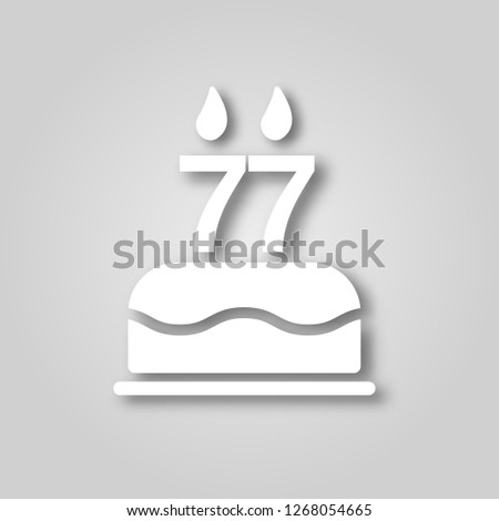 birthday cake with candles in