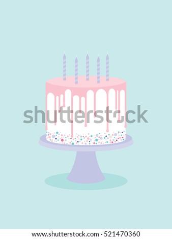 birthday cake with glaze and