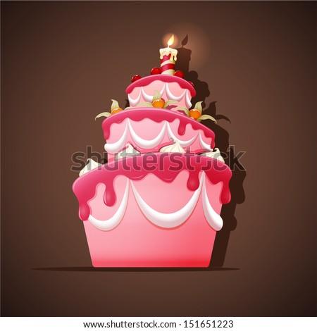 birthday cake with meringues