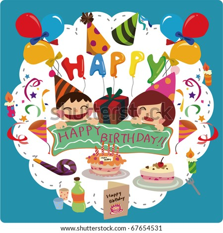 Birthday Card Stock Vector 67654531 : Shutterstock