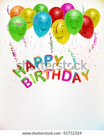 ... birthday card background, vector illustration, cust