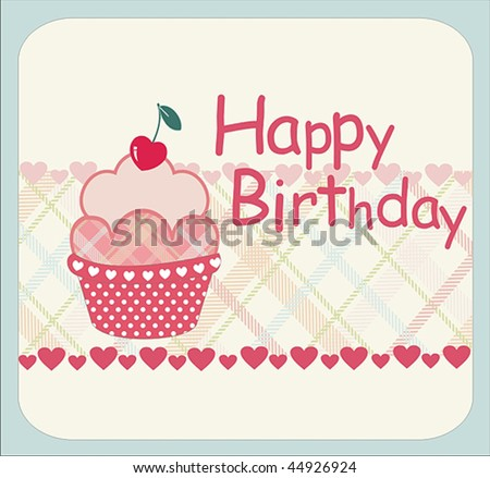 Birthday Card Design Stock Vector 44926924 : Shuttersto