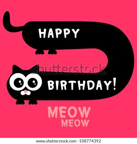 Kittens Birthday Cards Birthday Card Funny Black