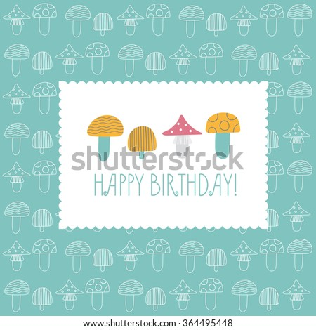 birthday card multicolored