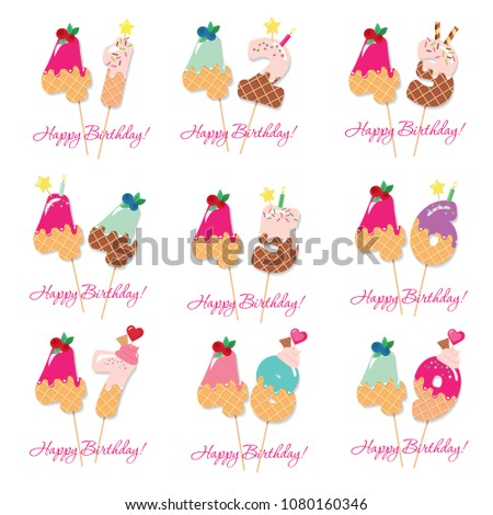 birthday card set festive