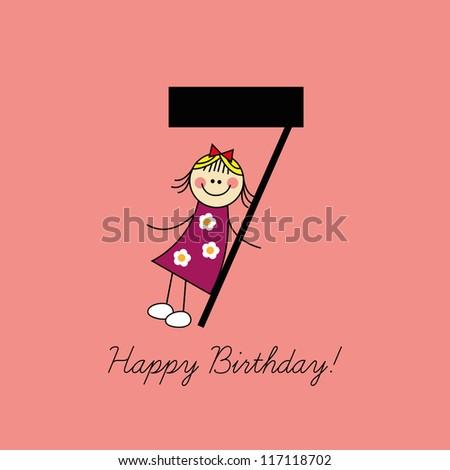 birthday card  seventh birthday