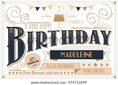 birthday card template vector/illustration