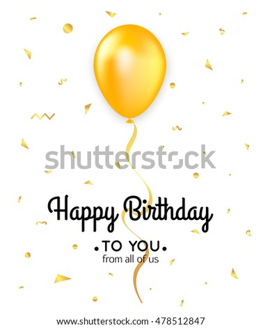 birthday card template with