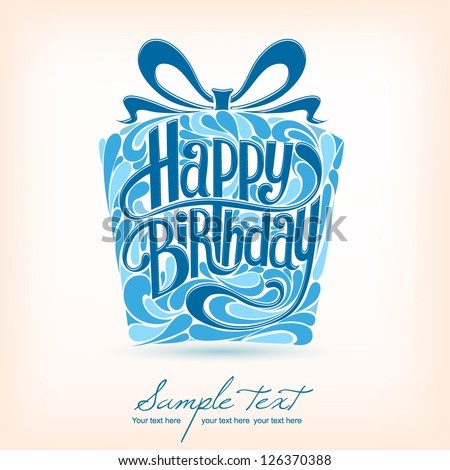 Birthday Card. Vector