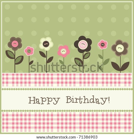 Birthday Card, Vector - 71386903 : Shutterstock