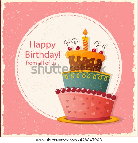 Free Vector Illustration of a Happy Birthday Greeting Card – Vector Birthday Card