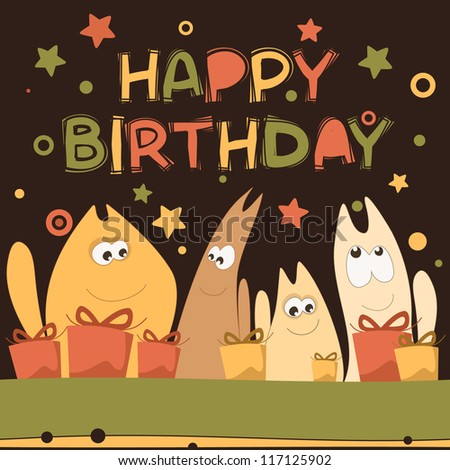 Kittens Birthday Cards Birthday Card With Cute