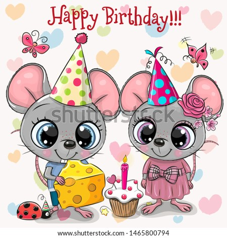 birthday card with two cute
