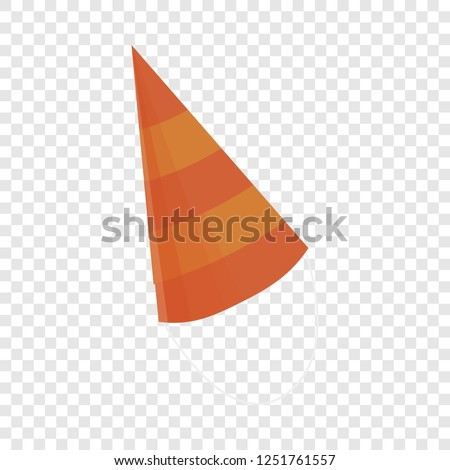 Birthday conical cap icon. Cartoon of birthday conical cap vector icon for web design