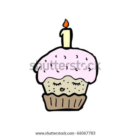birthday cupcakes cartoon. irthday cupcake cartoon