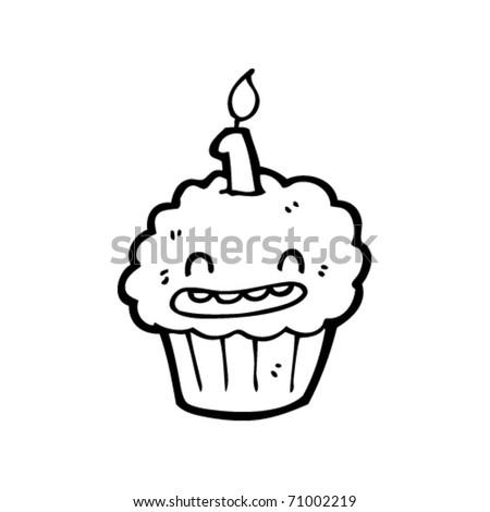 birthday cupcakes cartoon. irthday cupcake cartoon
