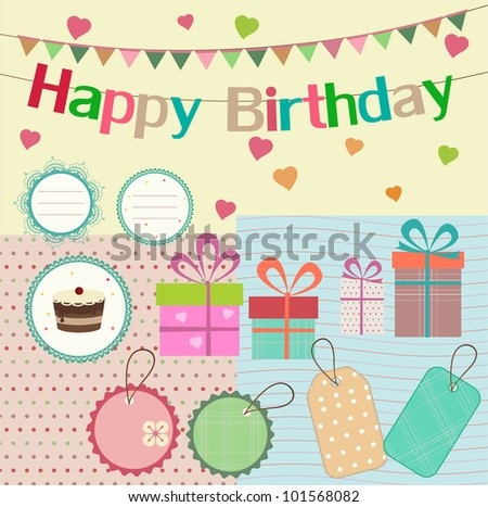 birthday design elements for