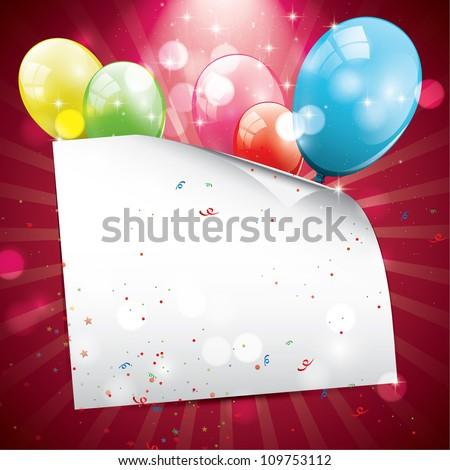 Birthday glossy background - stock vector