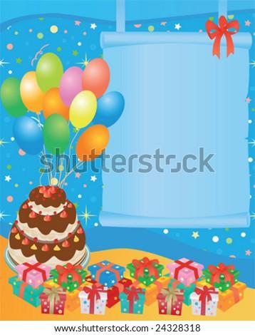 Birthday Greeting Card Stock Vector 24328318 : Shutters