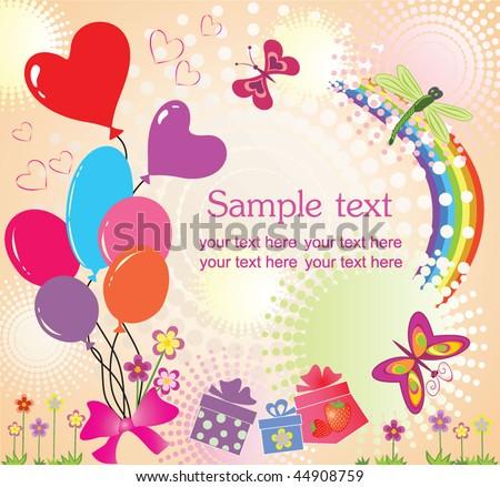 Birthday Greeting Card Stock Vector 44908759 : Shutters