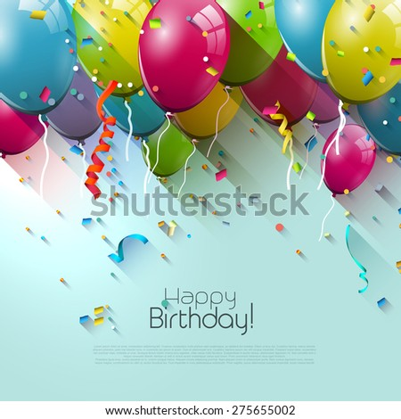 birthday greeting card with