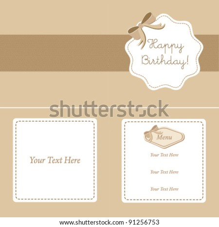 invitation card on vector set calligraphic design find