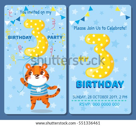 birthday invitation card with