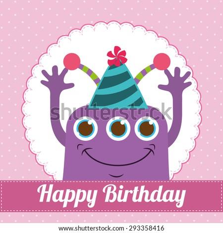 birthday invitation design, vector illustration eps10 graphic  #293358416