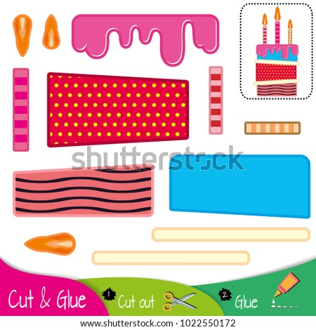 birthday multicolored cake with