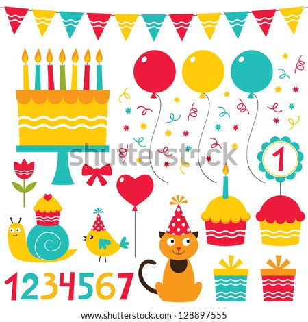 birthday party design vector