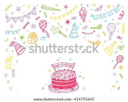 Happy Birthday Card With Photo Frame And Balloons Download Free