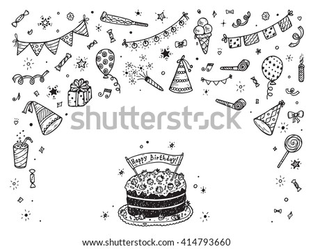 birthday design elements download free vector art stock graphics