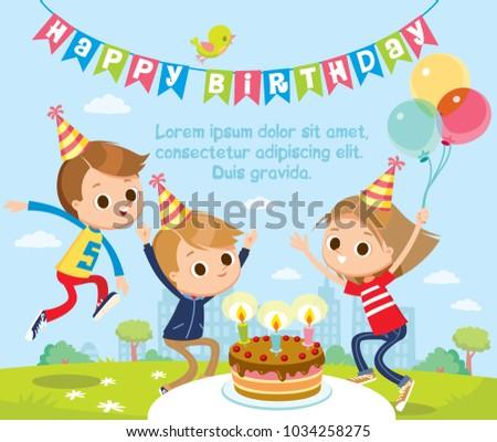 Birthday party with children