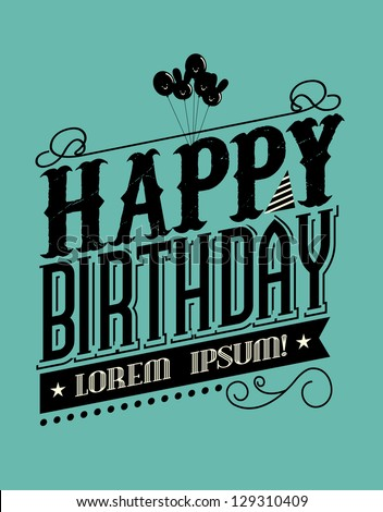 birthday typography template