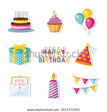 birthday vector set #1013372362