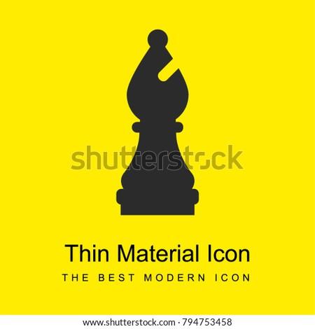 Bishop bright yellow material minimal icon or logo design