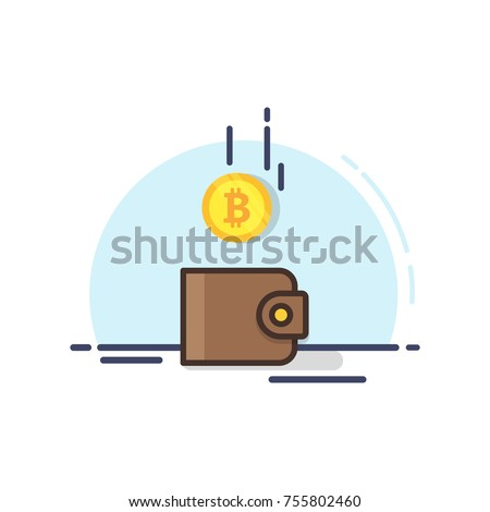 bitcoin and the wallet. coin...