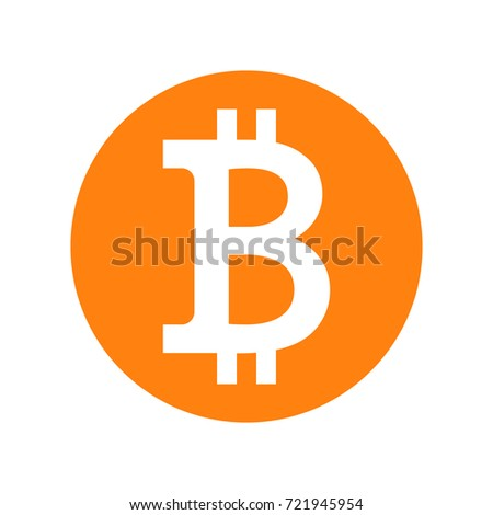 Bitcoin crypto currency vector icon.