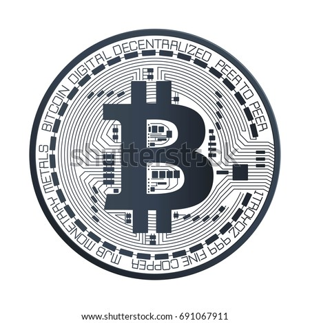 Bitcoin Digital currency vector