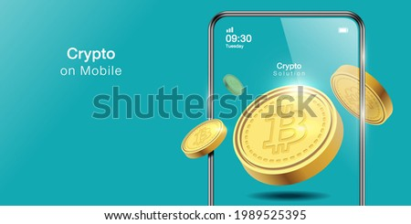 Bitcoin exchange. Flat design style web banner of blockchain technology, bitcoin, altcoins, cryptocurrency mining, finance, digital money market, cryptocoin wallet, crypto exchange. Vector