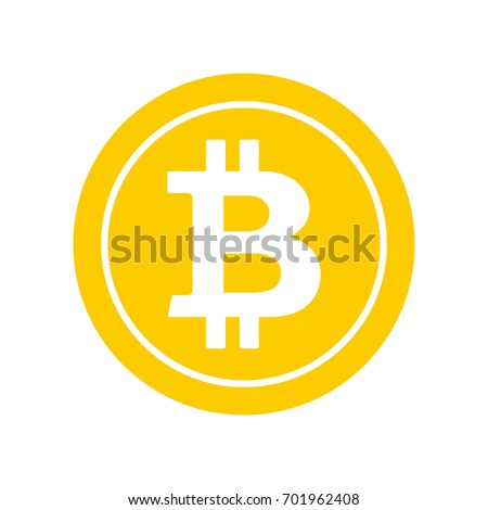 Bitcoin flat icon. Crypto currency bit coin. Cryptocurrency emblem. Web and Internet money logo. Vector illustration.