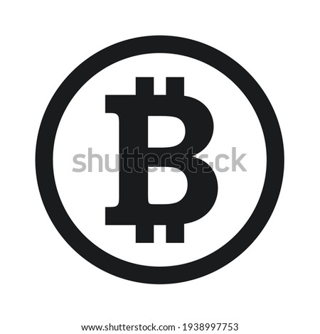 Bitcoin icon sign payment symbol. Cryptocurrency logo. Simple vector.