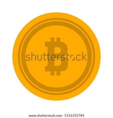 bitcoin illustration isolated, money symbol - vector bitcoin, cash payment