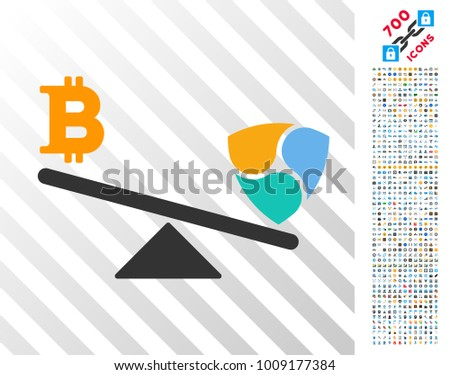 bitcoin nem balance swings icon