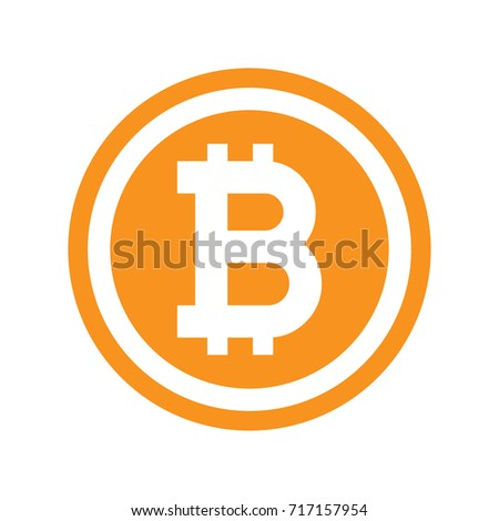 Bitcoin symbol in flat design. Vector