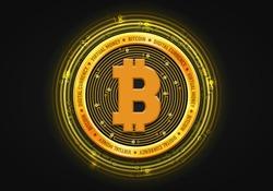 Bitcoin / Virlual money / Digital currency. Vector illustration.